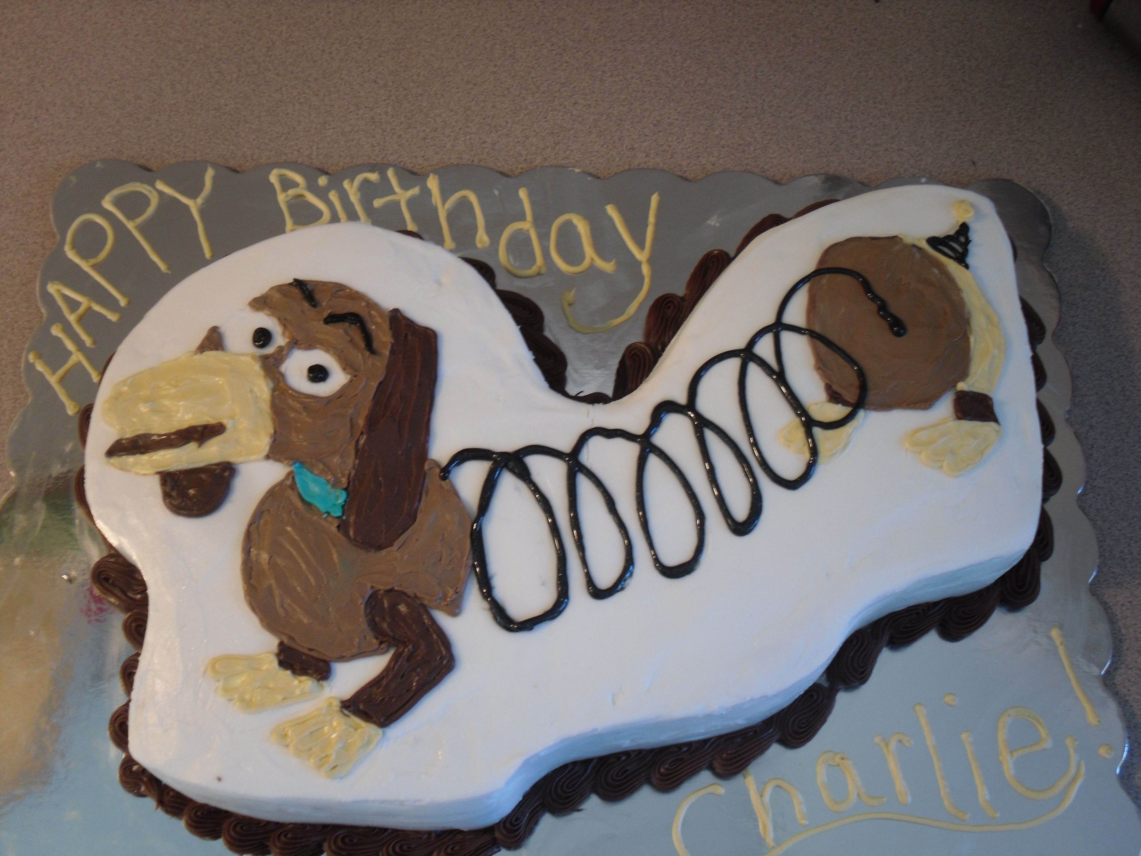Prime Slinky Dog Dog Birthday Cake Toy Story Party Funny Birthday Cards Online Alyptdamsfinfo