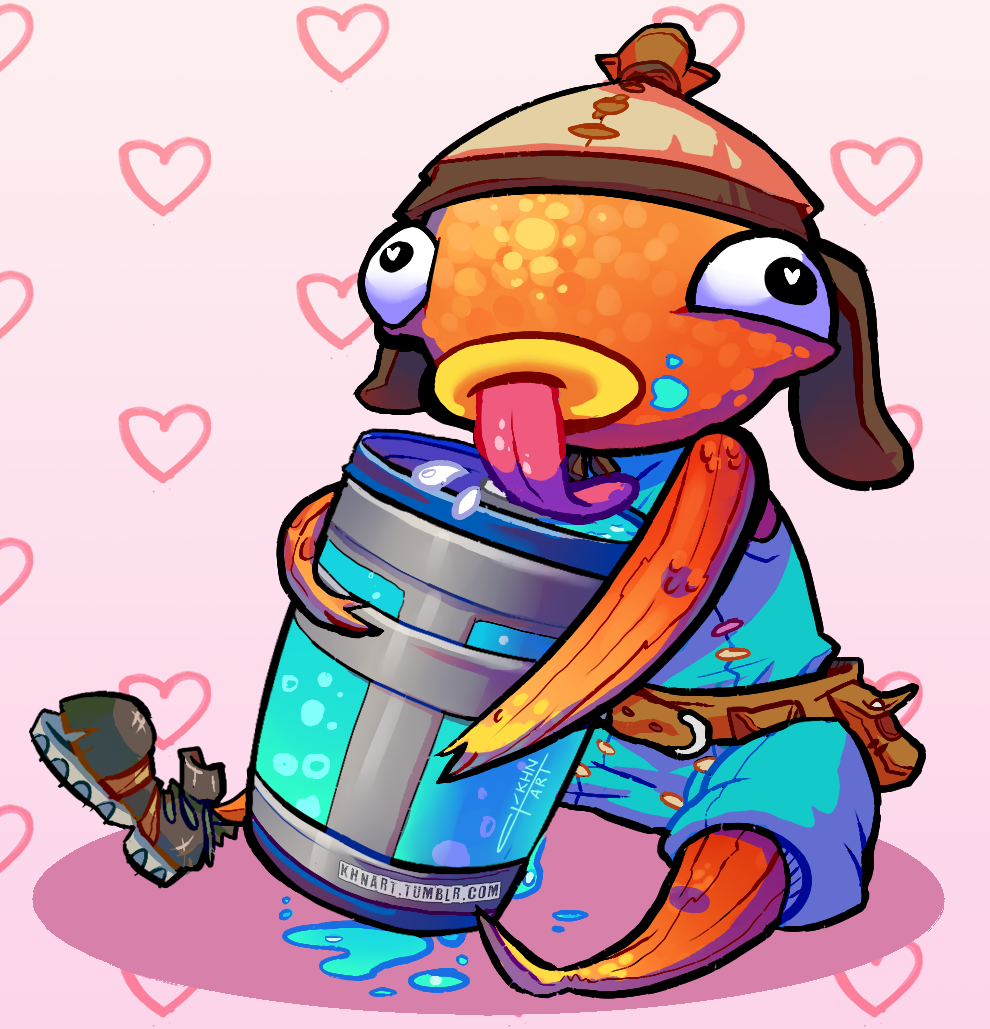 Being on land so much made Fishstick thirsty. So I drew