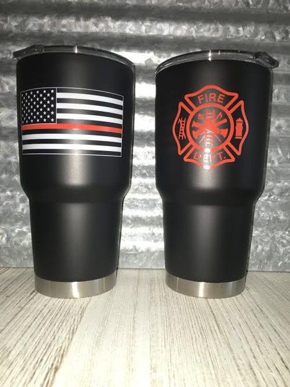 4d8be0cd171 Fire Fighter Tumbler - Stainless Steel Tumbler