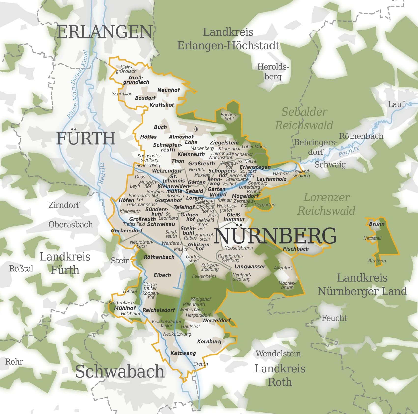 Nuremberg Map Www Avacationrental4me Com Germany Attractions In