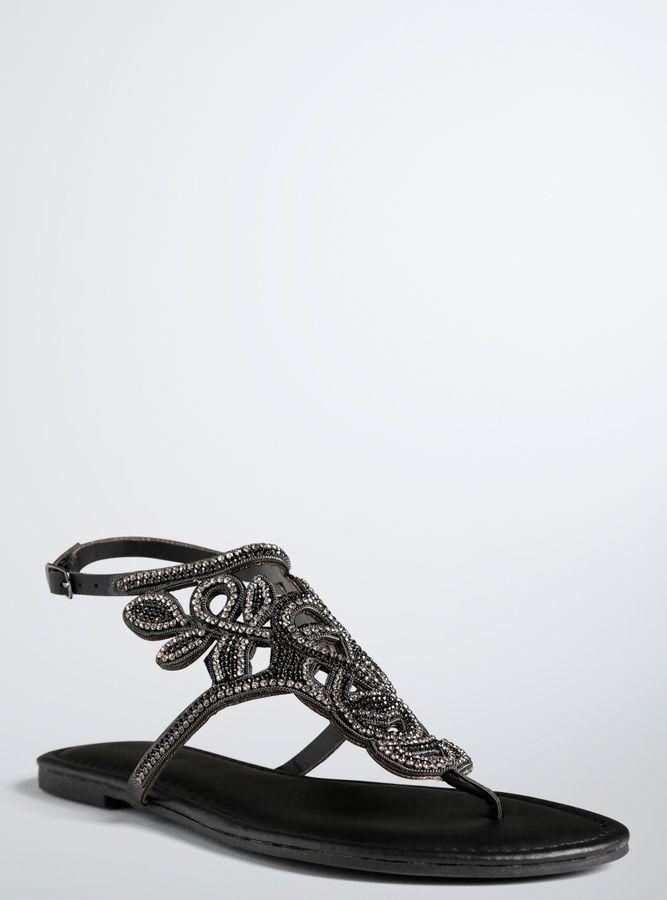 c9af5e8c6 Torrid All Over Gemstone T-Strap Sandals (Wide Width)