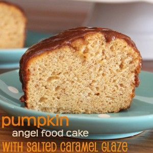 Pumpkin angel food cake 1 box betty crocker white angel food cake pumpkin angel food cake with salted caramel glaze love angel food cake and pumpkin makes it sound even betterwould like to find this recipe forumfinder Images
