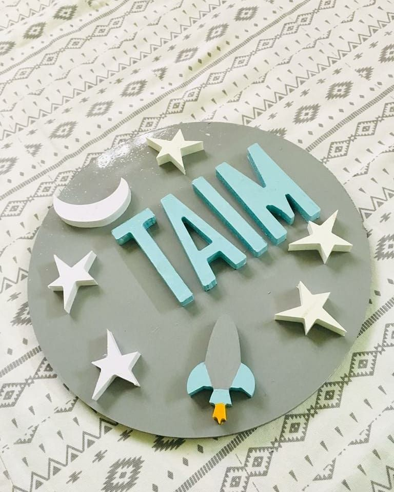 Wow A Wooden Customised Name Board For Baby Taim Get Ur Cute Little Ones Name Hanged On The Wall Or Door Baby Gifts Welcome Baby Little Ones