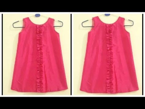 9c0181fe8a24 kids summer simple cotton frock cutting and stitching step by step ...