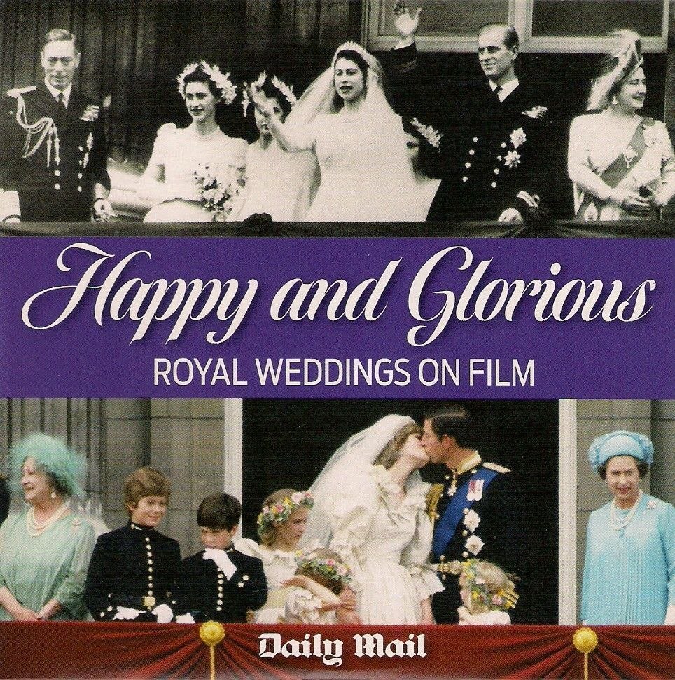 HAPPY AND GLORIOUS ROYAL WEDDINGS ON FILM MAIL PROMO DVD