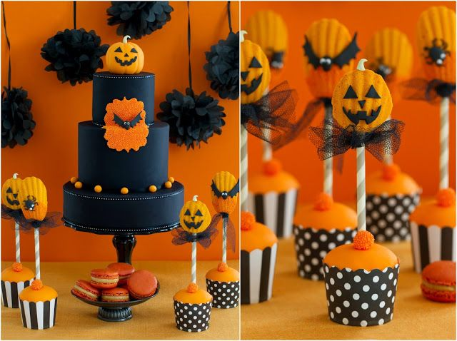 Halloween cake and sweet table   Halloween Mesa dulce del libro