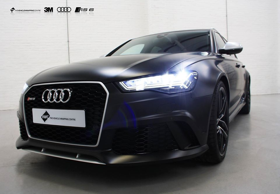 Audi Rs6 3m Satin Black Personal Vehicle Wrap Project Audi Rs6