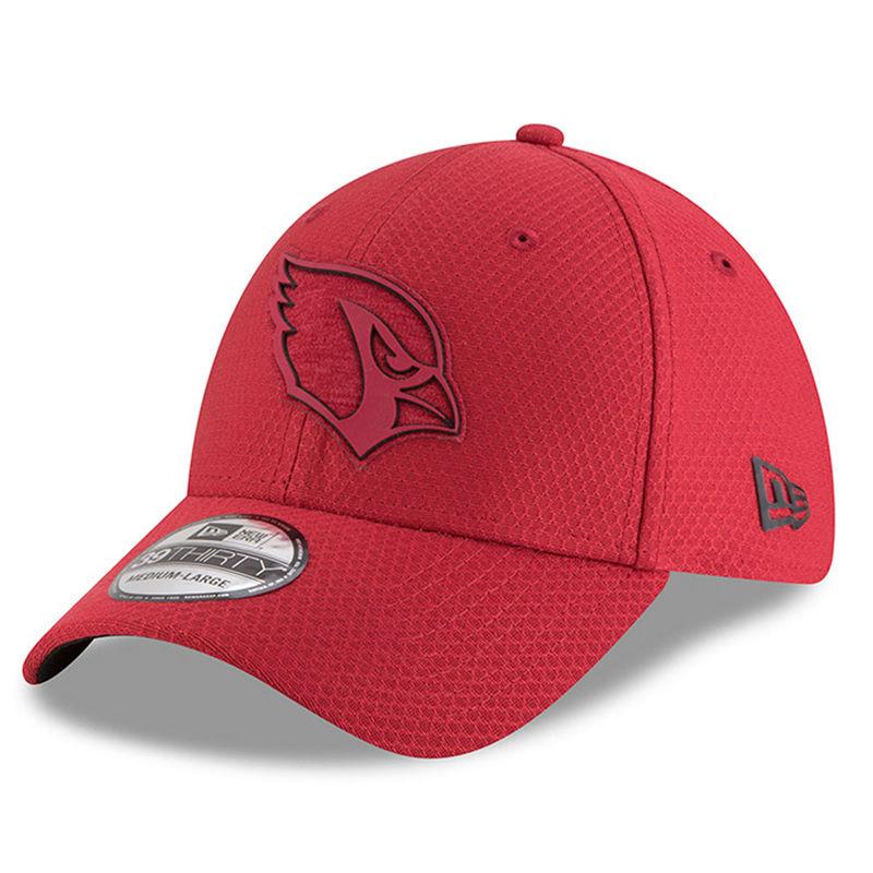 cheap for discount 8e661 3ada1 Mens Cardinal New Era Arizona Cardinals 2018 NFL Training Camp Primary 39THIRTY  Flex Hat