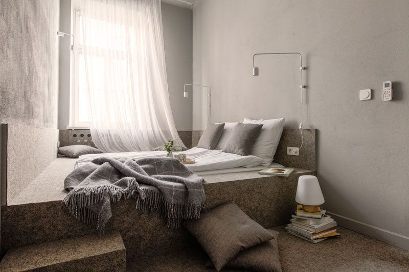 Small Bedroom Design Idea - A wall-to-wall built-in platform bed ...