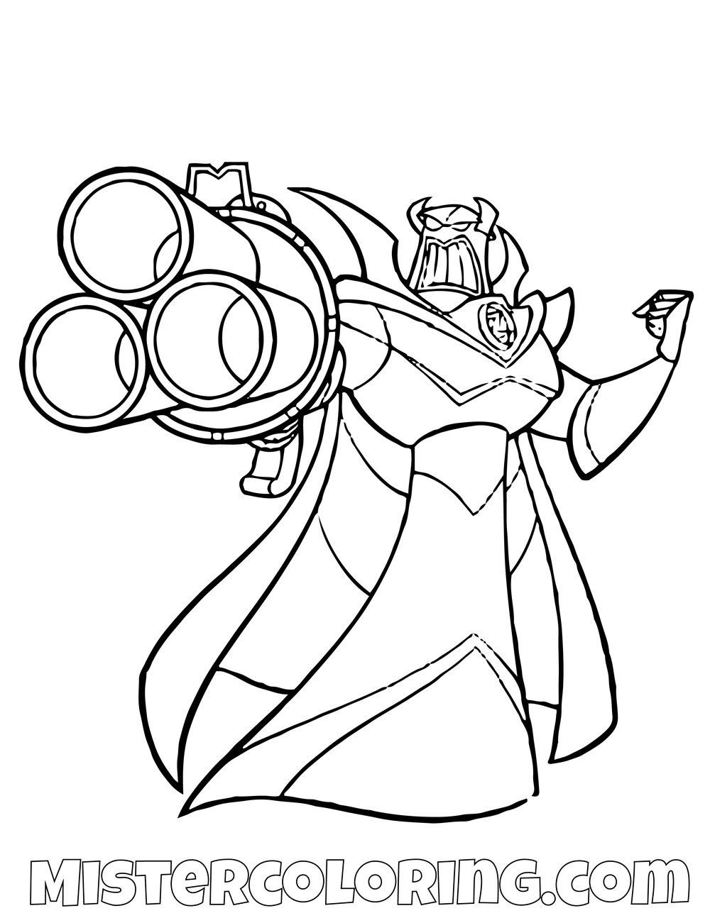 Evil Emperor Zurg Toy Story Coloring Page Toy Story Coloring