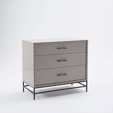 Nailhead 3 Drawer Dresser Westelm Dresser 6 Drawer
