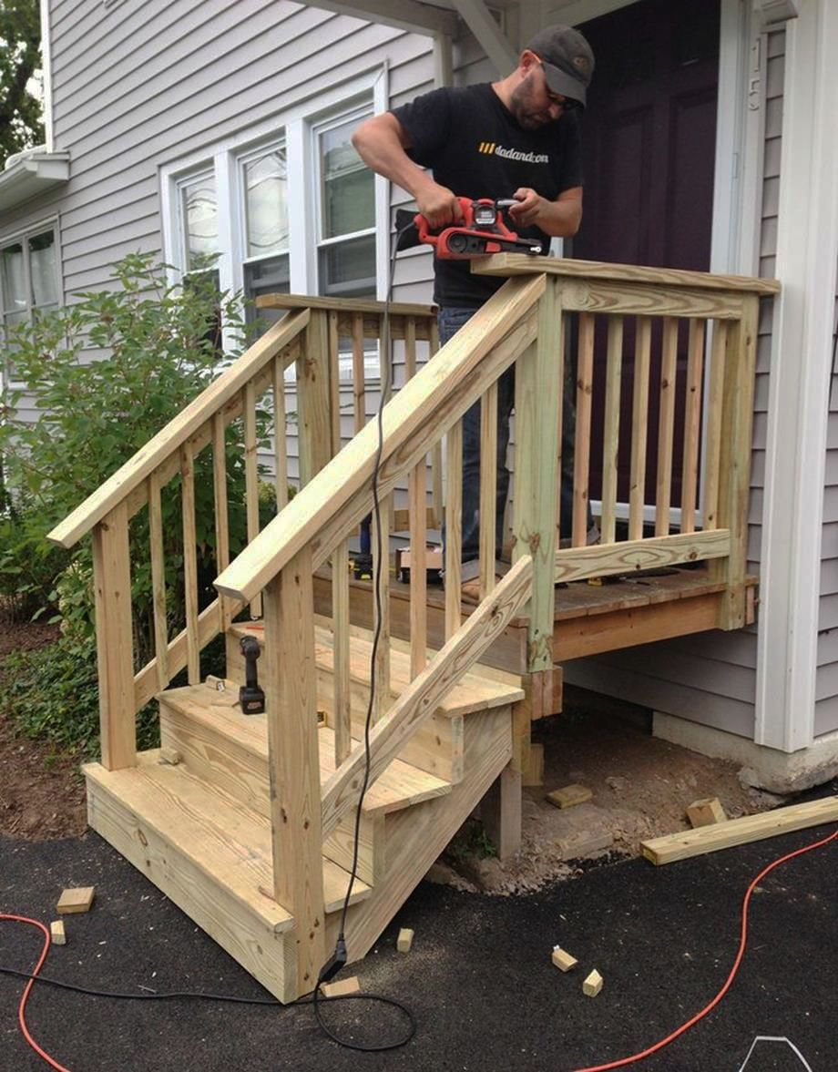 Top Front Porch Ideas Ranch Style Exclusive On Miraliva Com Front Porch Stairs Outdoor Stairs Porch Stairs