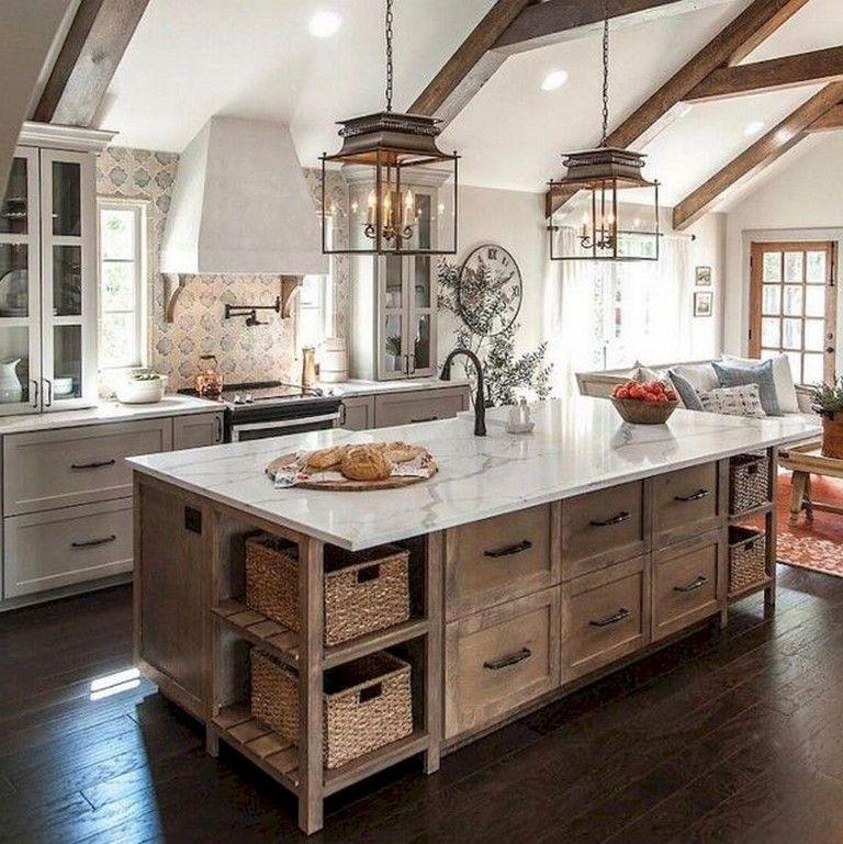 65+ Modern Farmhouse Kitchen Cabinet Makeover Ideas Kitchen