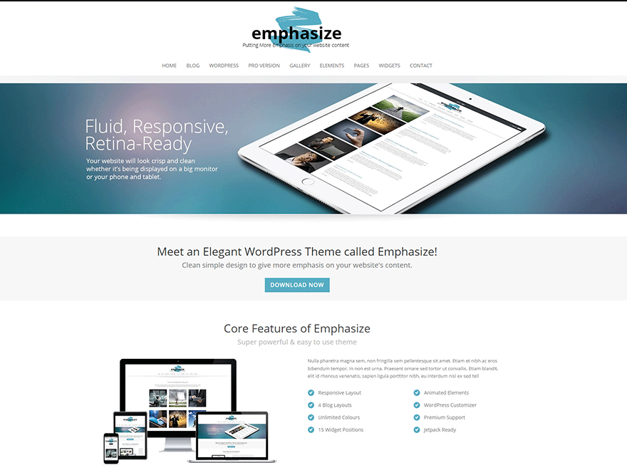 emphasize-preview | WordPress Responsive Templates | Pinterest ...