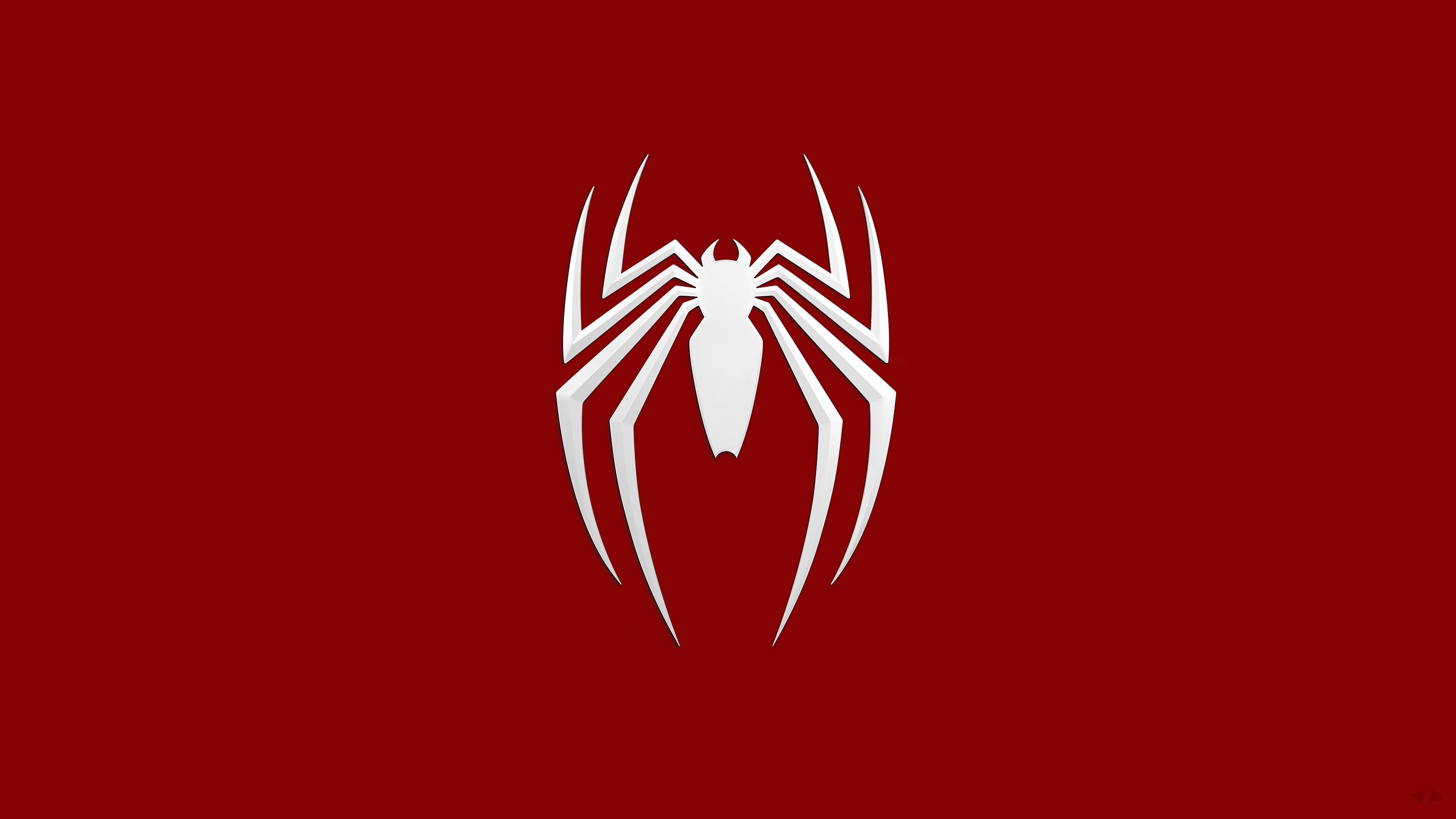 Marvel Spider Man Logo Spider Man Logo Simple Background Spider Man 2018 Marvel Comics 4k Wallpaper Hdwallpaper Desk In 2020 Spider Man 2018 Man Logo Spiderman