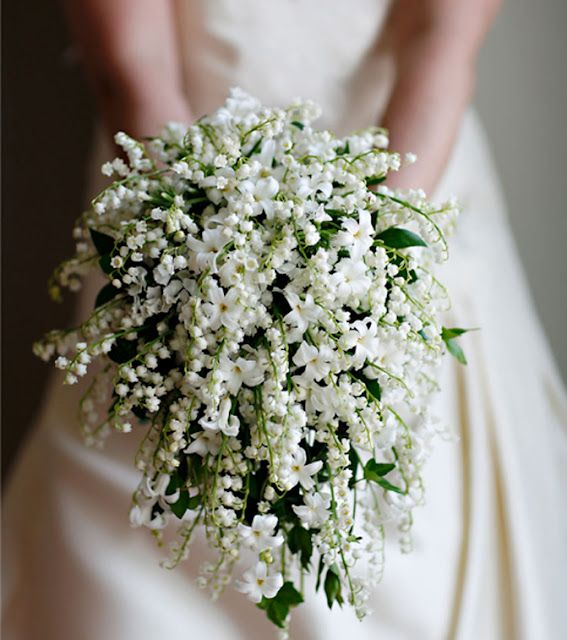 Delicate Lily of the Valley bouquet. One of my favorite flowers.