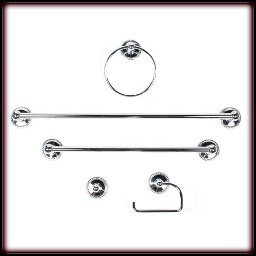 Aria Classic 5 pc Bath Set - Polished Chrome 80005-26