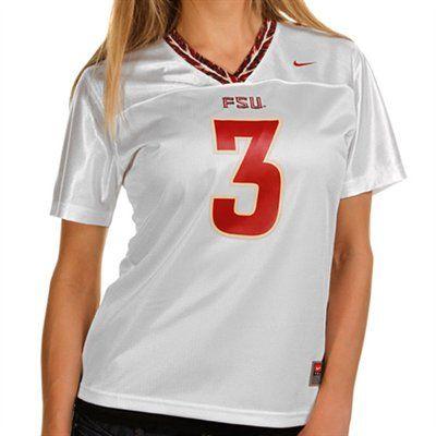 Nike Florida State Seminoles (FSU)  3 Women s Replica Football Jersey -  White db9cd8a01b