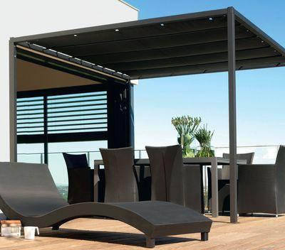 protection soleil baie vitr e store banne v lum pergola tonnelle pergolas toile and store. Black Bedroom Furniture Sets. Home Design Ideas