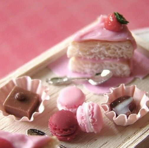 Macarons, cupcakes and sweets