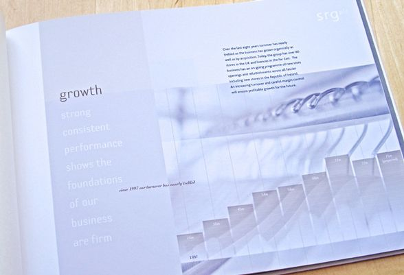 brochure page design - Growth