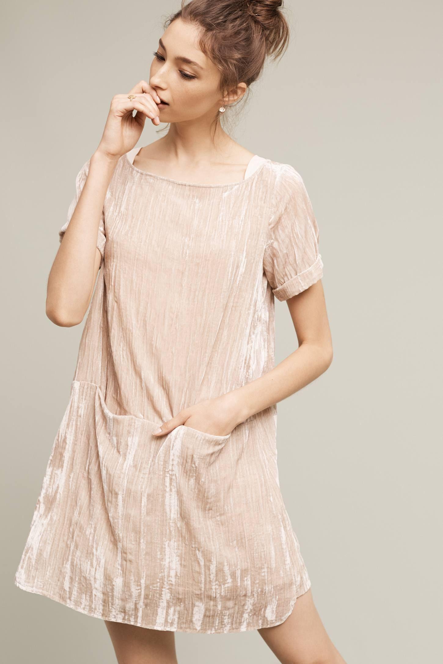 Crinkled Velvet Tunic | Blusen