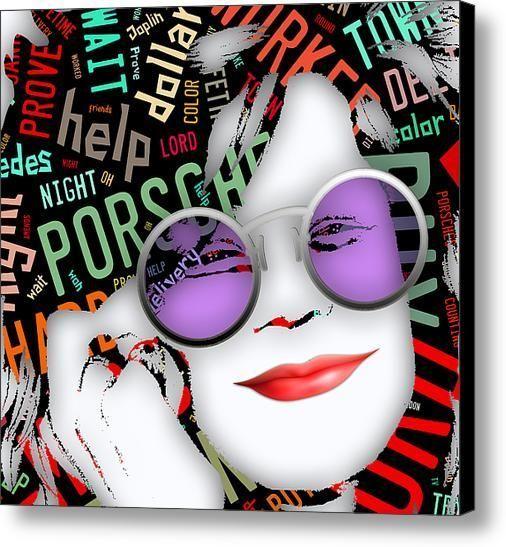 Janis Joplin Mercedes Benz Song Lyric Canvas Print ...