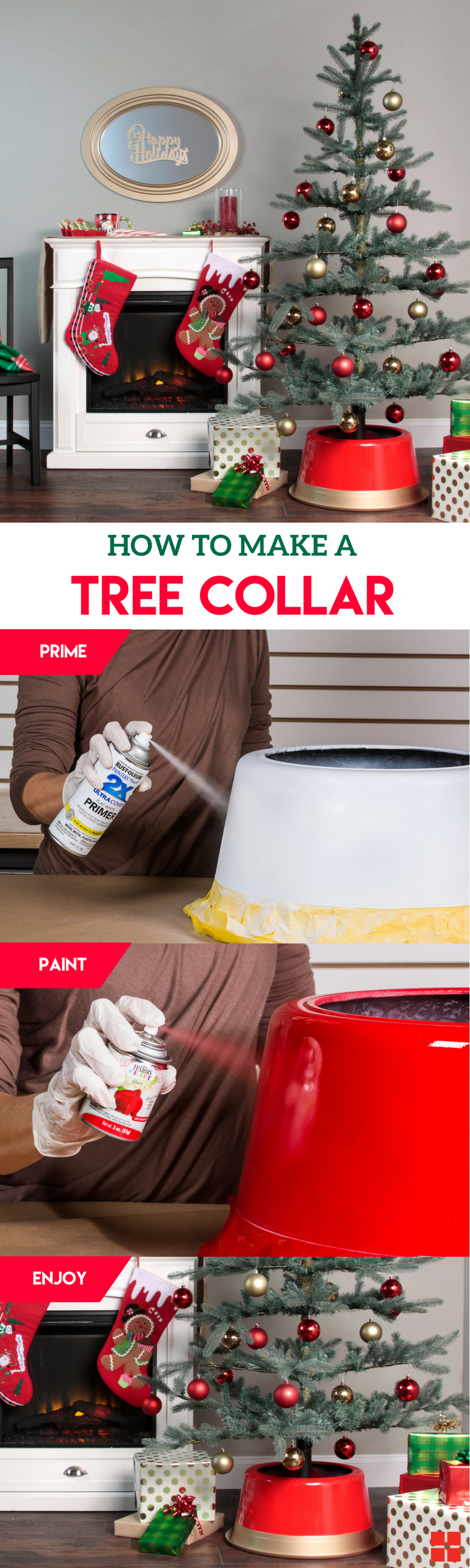 Learn how to make your own DIY tree collar for your rustic