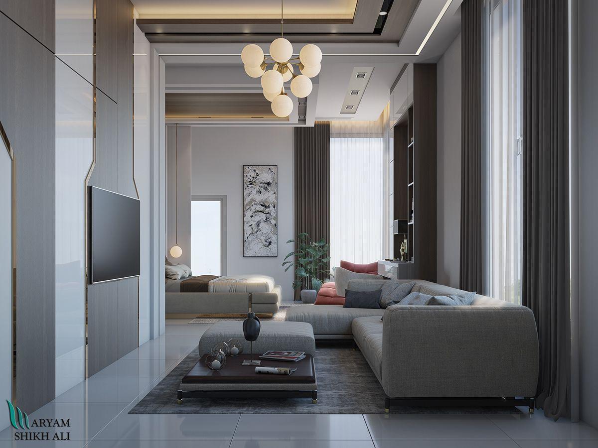 Master bedroom in Dubai on Behance in 2020 Master