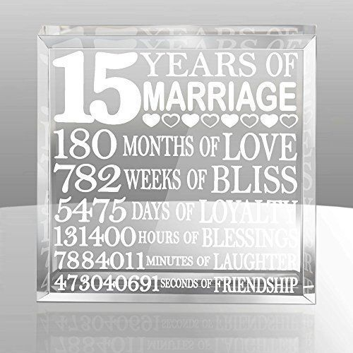 Kate Posh Our 15th Anniversary Keepsake Wedding Gift Ideas For Him And Her Gifts Husband Wife