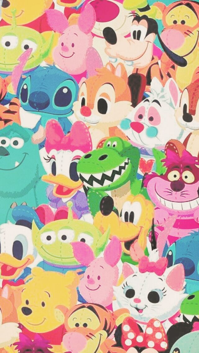 Pin By Gigi Keenan On Misc Disney Characters Wallpaper Disney Collage Cute Disney Wallpaper