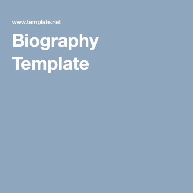 Biography Template Family History Tips \ Inspiration Pinterest - biography template