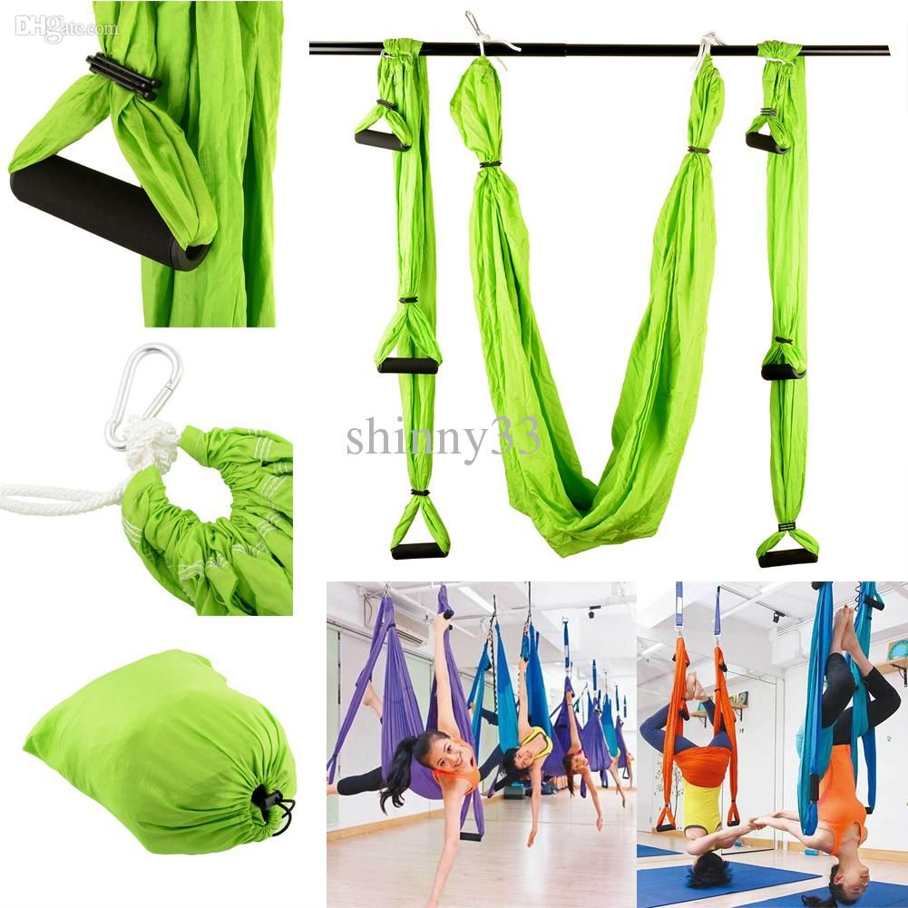 Online cheap raction device yoga hammock inversion swing trapeze