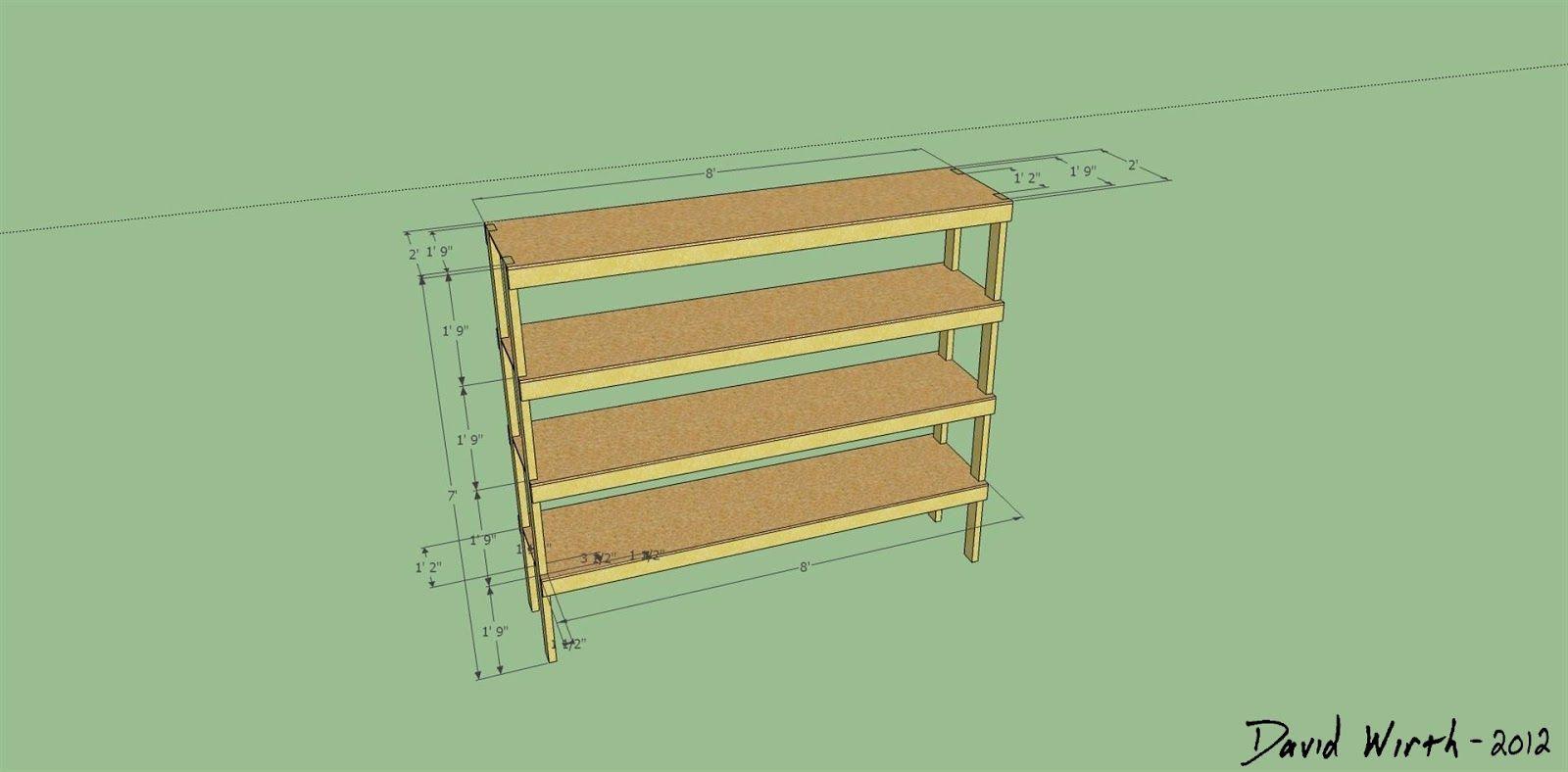 Google Sketchup Wood Shelf Design Wood Shelf Dimensions 2x4