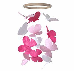 Butterfly Nursery Mobile Pink - mobiles