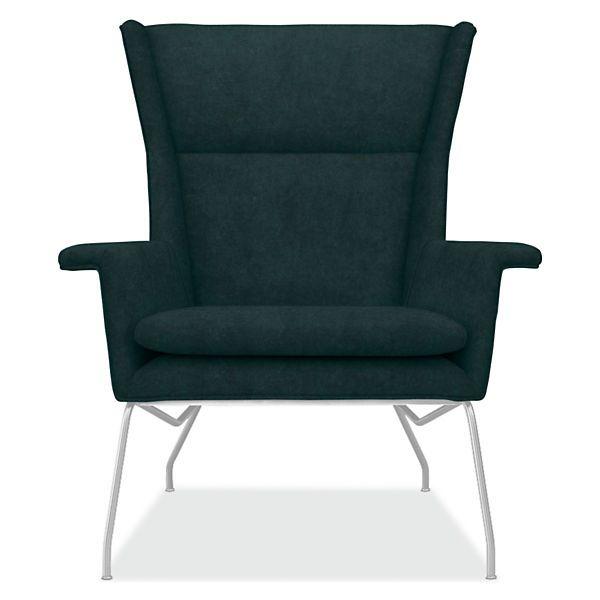 Aidan Leather Chair Ottoman Modern Living Room