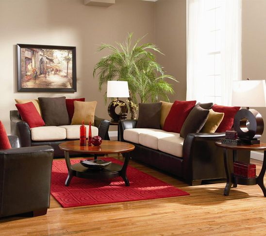 Red Gold And Brown Living Room Red Living Room Decor Brown