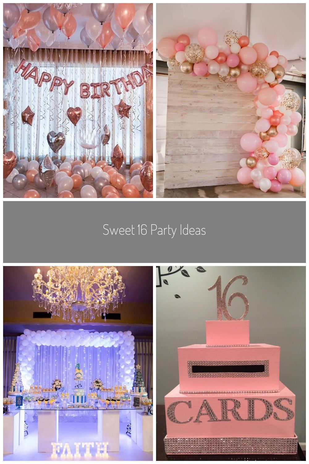 Sweet 16 Party Ideas Rose Gold Happy Birthday Decoration Rose Gold 21st Birthday Party Ideas Decor 16th 18th Rose Gold Birthday Party Banner Sign