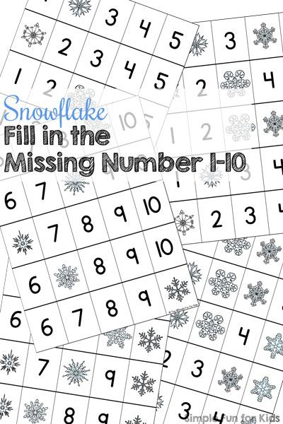 snowflake fill in the missing number 1 10 printable writing numbers worksheets and number. Black Bedroom Furniture Sets. Home Design Ideas