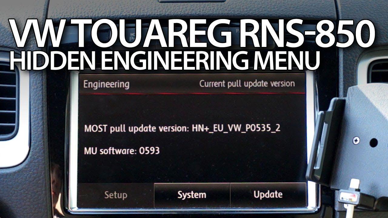 How to enter hidden #engineering red #menu in RNS-850 #VW