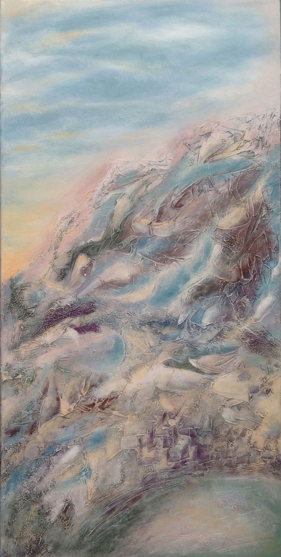 Frozen mountain art by liz mcdonough art mountain art