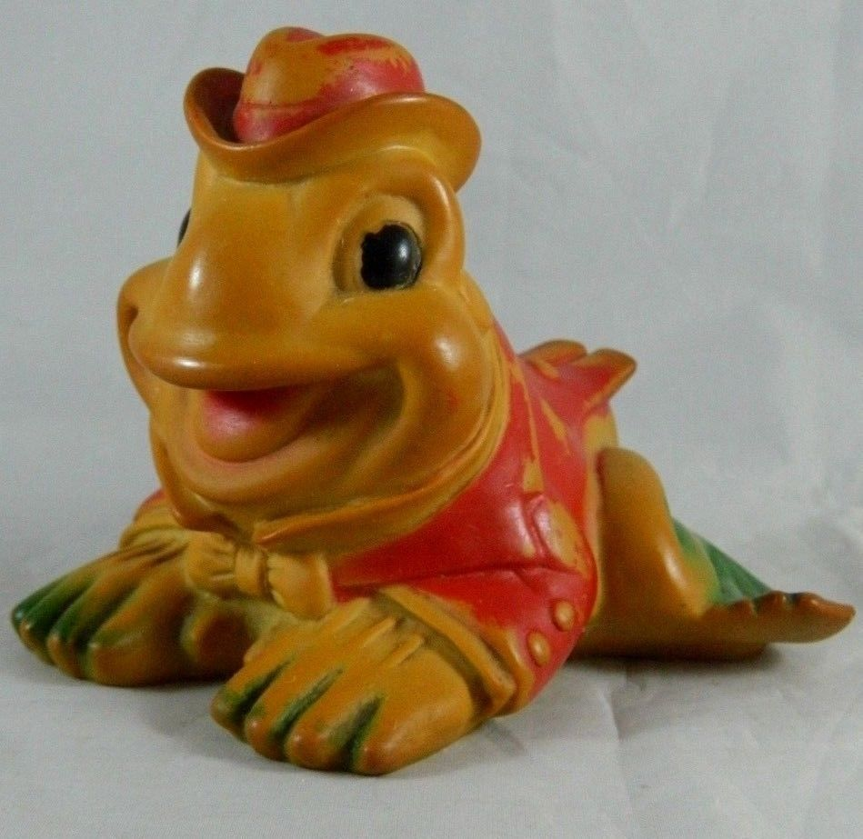 Vintage 1955 Sun Rubber Squeaky Rubber Frog Working Squeaker Toy ...