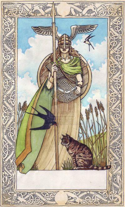 Norse Goddess Freya Cat Chariot Norse Goddess Norse