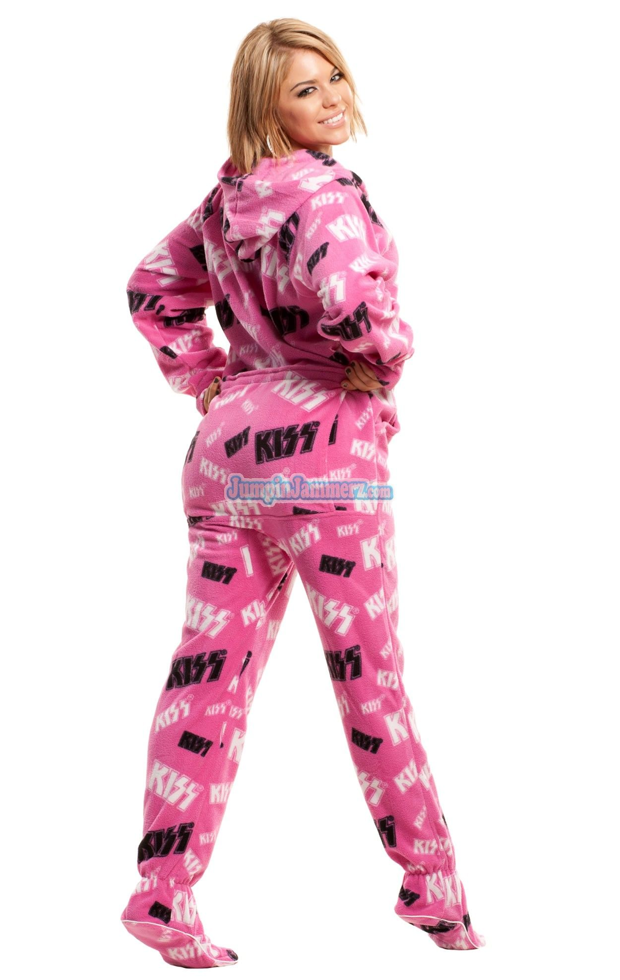 accd1c5ad8 DROP SEAT HOODED FOOTED PAJAMAS - All attitude all night. Features Hoodie