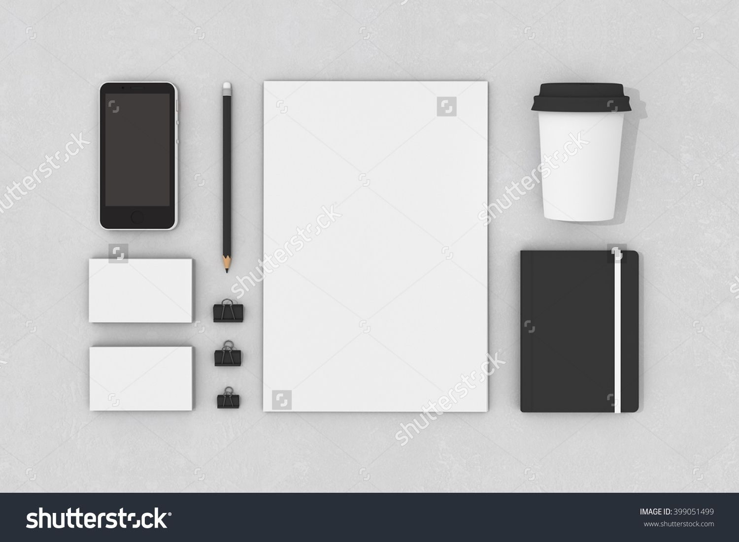 Blank Corporate Identity Stationery Set Personal Branding Mockup