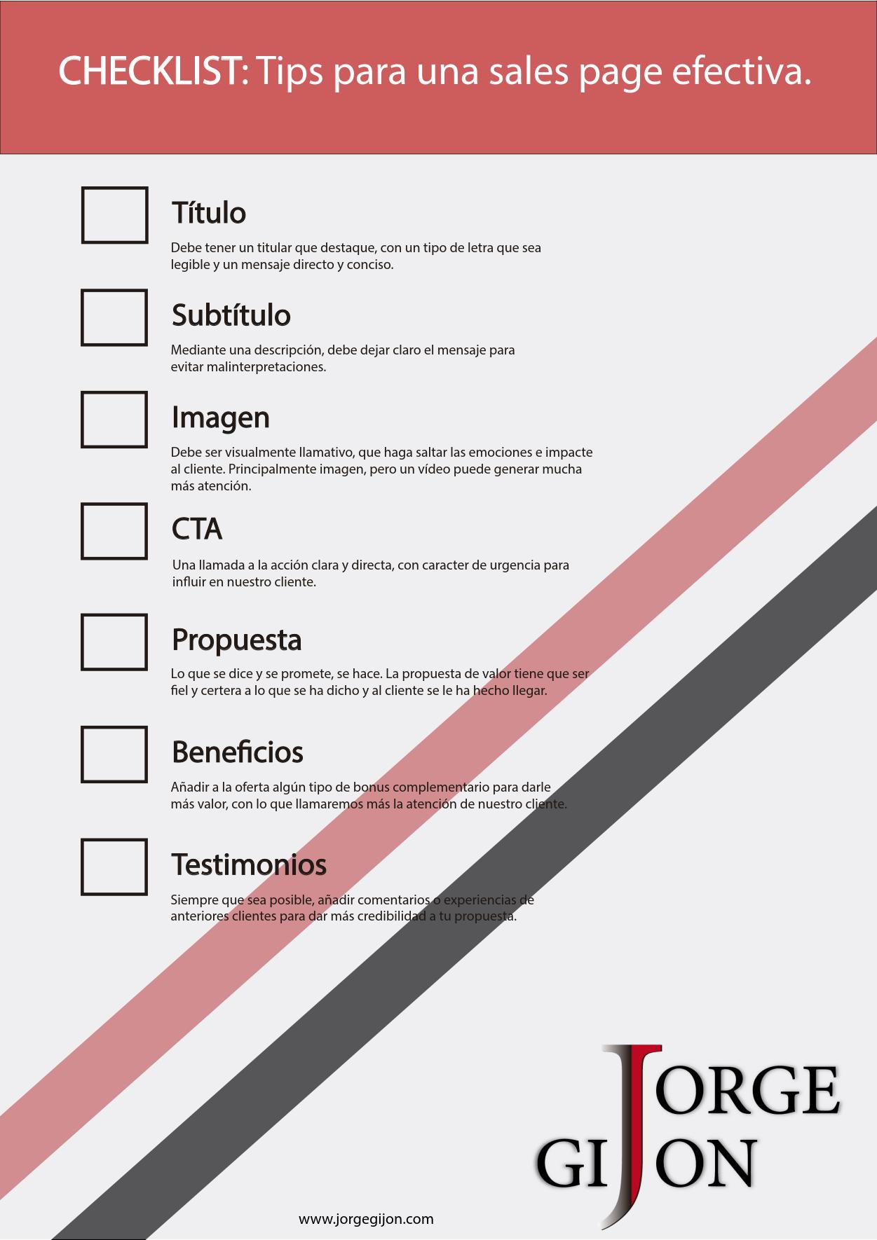 Checklist Para Una Sales Page Efectiva Marketing Digital Marketing Estrategia De Marketing Digital
