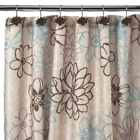 Whimsy Floral Fabric Shower Curtain Reg 44 99 Sale 26 99 With