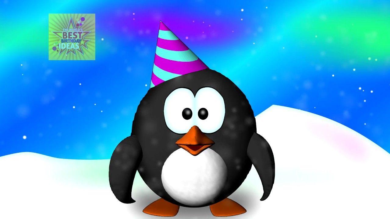 Happy Birthday Penguin Dance Funny Penguin Birthday Song