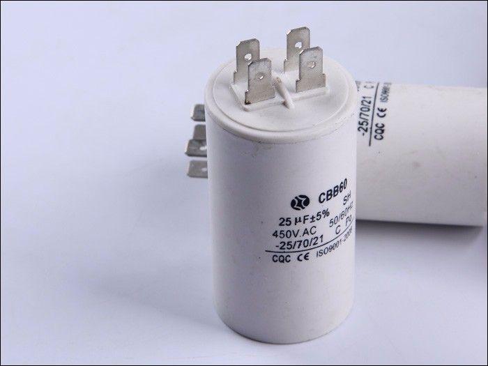 Ac Run Capacitor Four Pins Cbb60 25uf 450v Capacitors Flask Lights