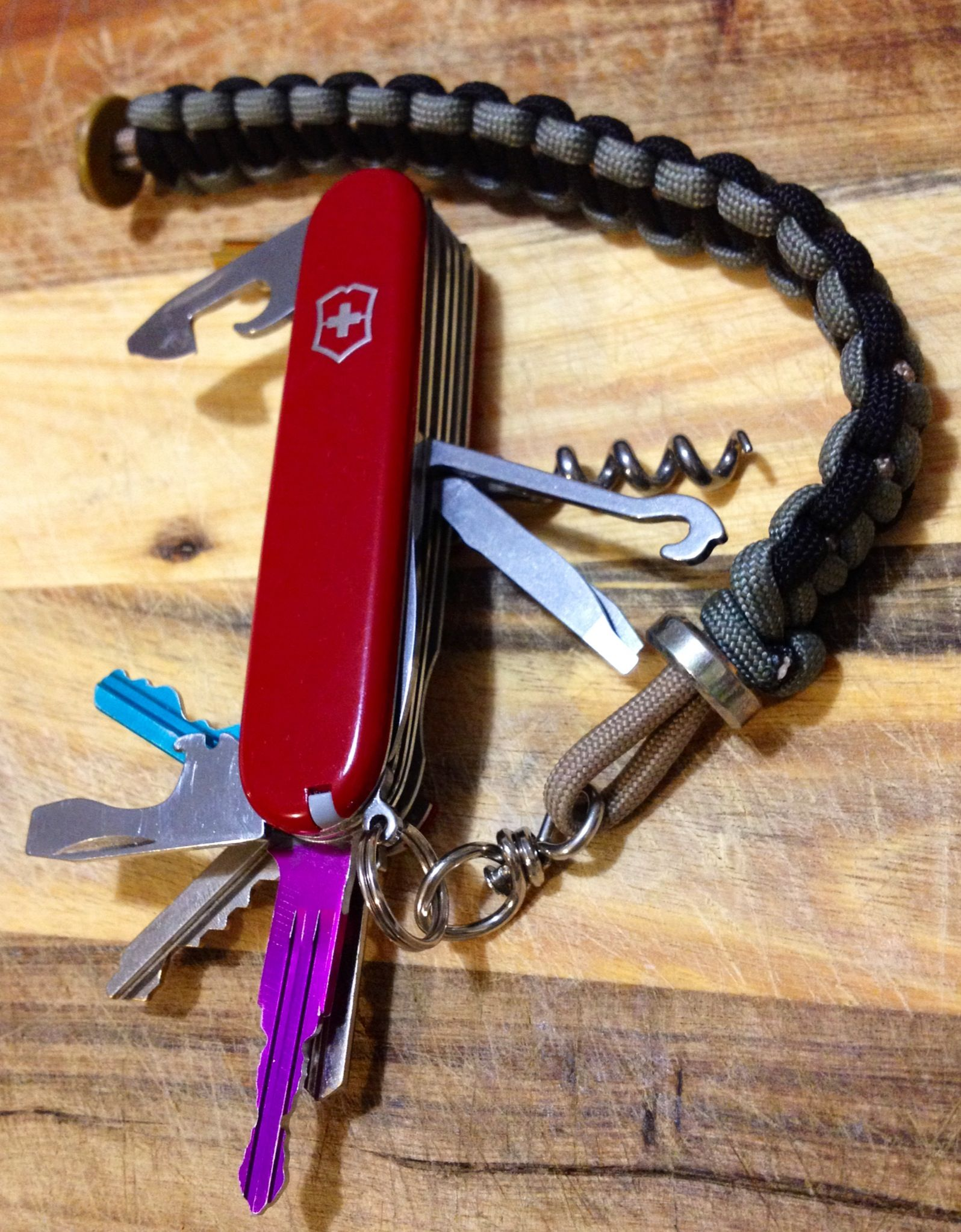 Victorinox Swiss Army Knife Modification With Keys And